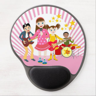Pop star girl birthday party gel mouse pad