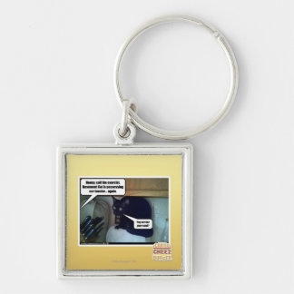 Pop tart for your soul? Silver-Colored square key ring