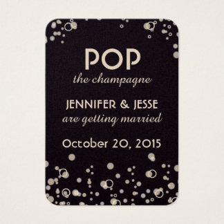 Pop the Champagne - Save The Date Tag
