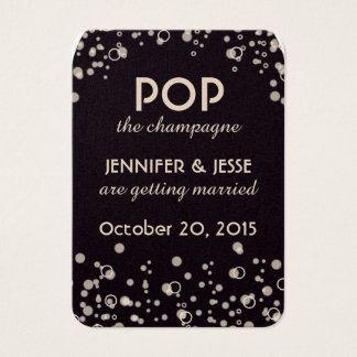 Pop the Champagne - Save The Date Tag Business Card
