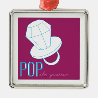Pop The Question Christmas Ornament