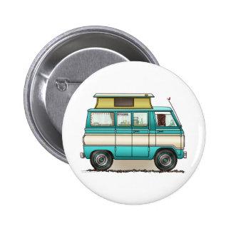 Pop Top Van Camper 6 Cm Round Badge