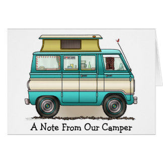 Pop Top Van Camper Greeting Card