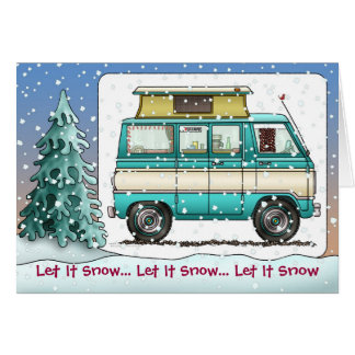 Pop Tpo Van RV Camper Holiday Cards