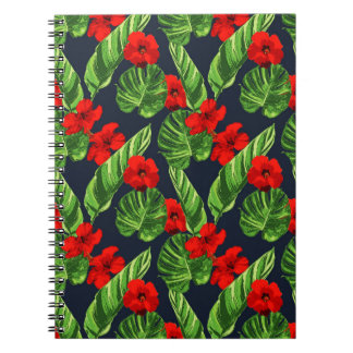 Pop Tropical Leaves Seamless Pattern Series 3 Notebook