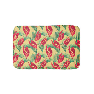 Pop Tropical Leaves Seamless Pattern Series 4 Bath Mat