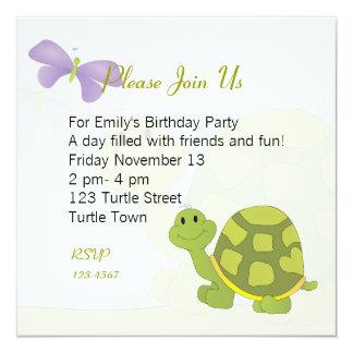 Pop Turtle 13 Cm X 13 Cm Square Invitation Card