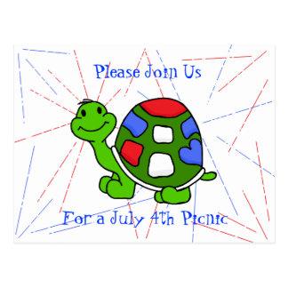 Pop Turtle 4th! Postcard
