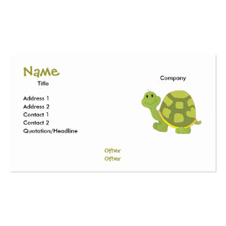 Pop Turtle! Pack Of Standard Business Cards