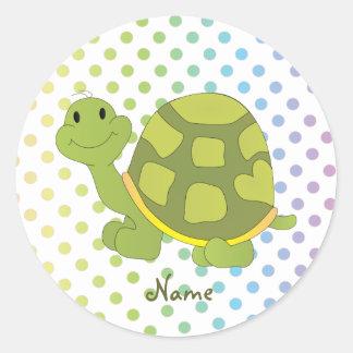 Pop Turtle Sticker! Round Sticker
