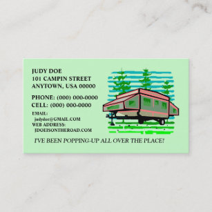 Pop up business cards business card printing zazzle uk pop up camper trailer contact or business cards calling card reheart Gallery