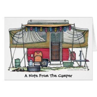 Pop Up Camper Trailer Note Cards