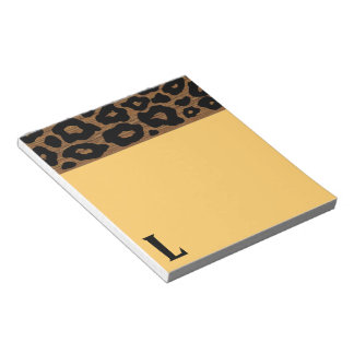 Pop Wood Leopard Pattern Notepad