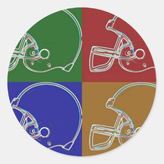 PopArt Helmet Runder Aufkleber