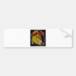 PopArt Lion Bumper Sticker