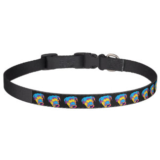 Popart Pitbull Puppy Dog Collar
