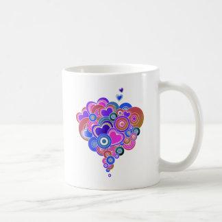 PopArt Purple Hearts Basic White Mug