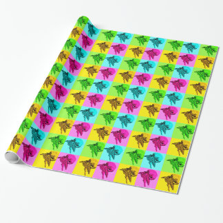 Popart Style Hermit crab Wrapping Paper
