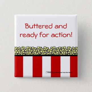Popcorn 15 Cm Square Badge