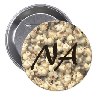 popcorn 7.5 cm round badge