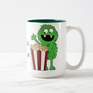 Popcorn Addict Monster coffee mug