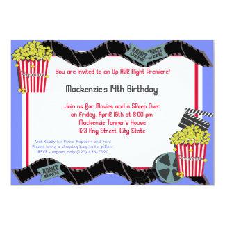 Popcorn and a Movie 13 Cm X 18 Cm Invitation Card