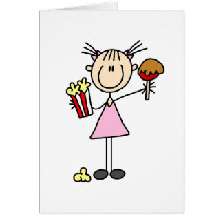 Popcorn And Caramel Apple At The Fair Card