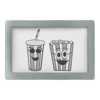 popcorn and soda rectangular belt buckles