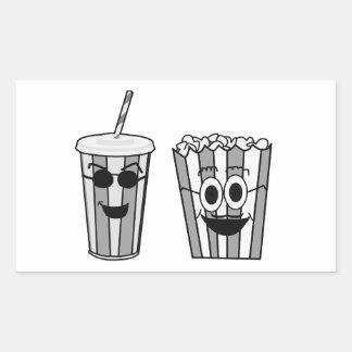 popcorn and soda rectangular sticker