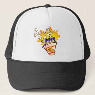 popcorn animated trucker hat