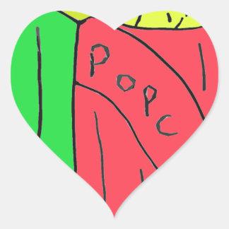 POPcorn Art Heart Sticker