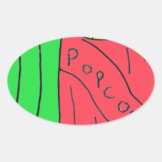 POPcorn Art Oval Sticker