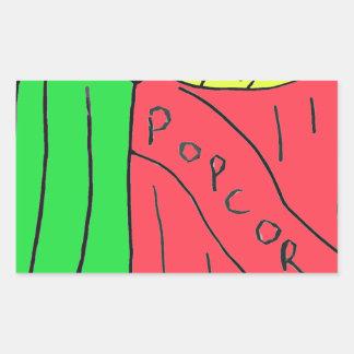 POPcorn Art Rectangular Sticker