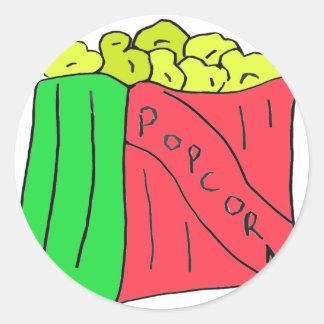 POPcorn Art Round Sticker