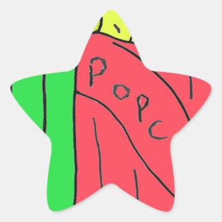 POPcorn Art Star Sticker