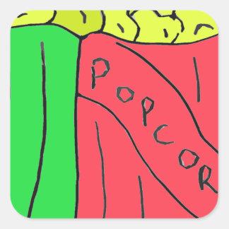 POPcorn Art Square Sticker