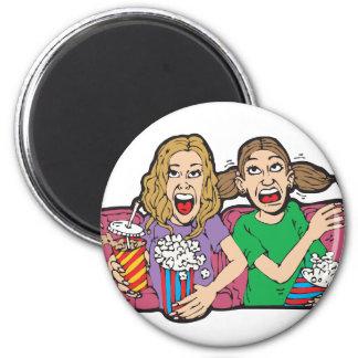 Popcorn at the Movies Fridge Magnet