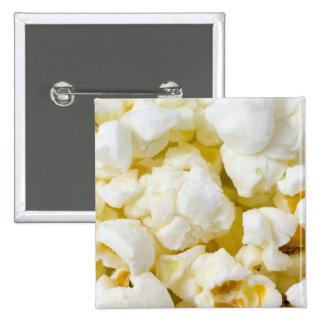 Popcorn Background 15 Cm Square Badge