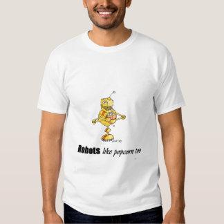 popcorn bot tee shirt