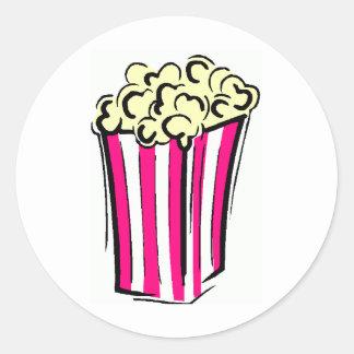 Popcorn Box Round Sticker