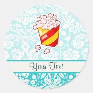 Popcorn; Cute Classic Round Sticker