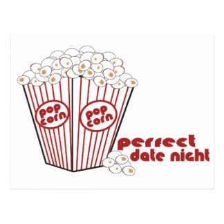 Popcorn Date Night Postcard