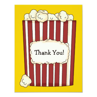 Popcorn Flat Thank You Card 11 Cm X 14 Cm Invitation Card