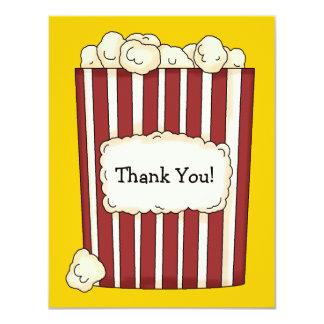 Popcorn Flat Thank You Card 11 Cm X 14 Cm Invitation Card