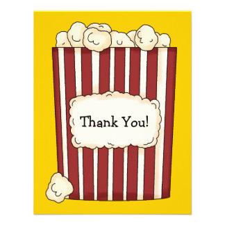 Popcorn Flat Thank You Card Invitation