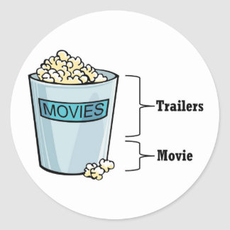 Popcorn Full Classic Round Sticker