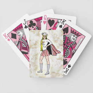 Popcorn Girl Playing Cards