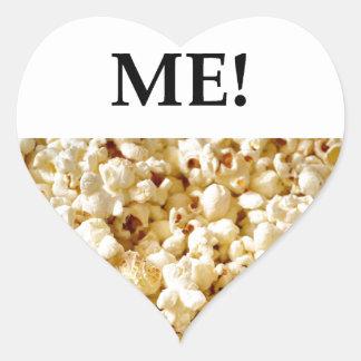popcorn heart sticker