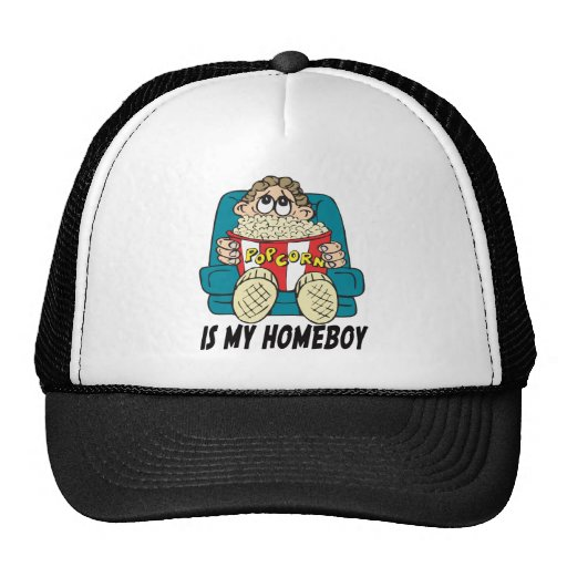 Popcorn is My Homeboy T-shirts Gifts Mesh Hats