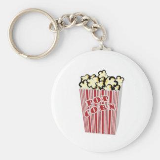 Popcorn Keychain! Key Ring